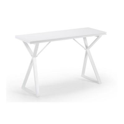 Consolle allungabile bianca dal design moderno Atik, allungabile fino a 90cm