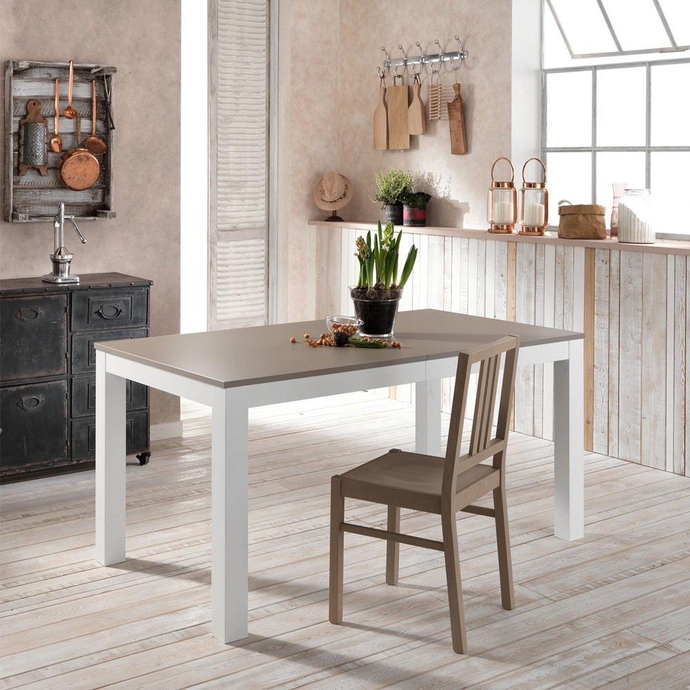 Tavolo da pranzo allungabile in legno di frassino made in Italy Oreste