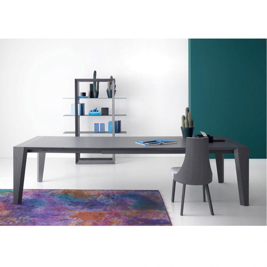 Tavolo allungabile impiallacciato noce canaletto o grigio rovere 90×130 cm